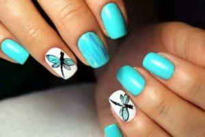 Бирюзовый дизайн ногтей: интересные идеи
